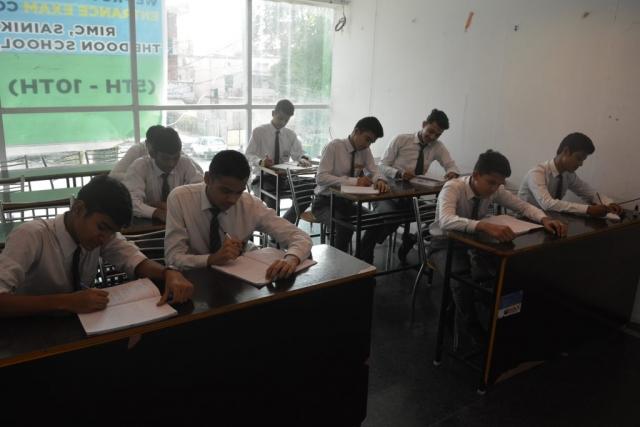 Dehradun Defence Academy students study in Classsroom